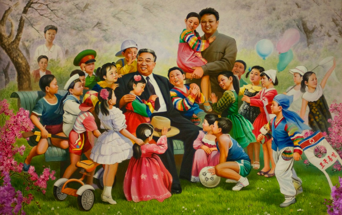 North Korea - Pyongyang - Childrens Palace - Mural (medium)