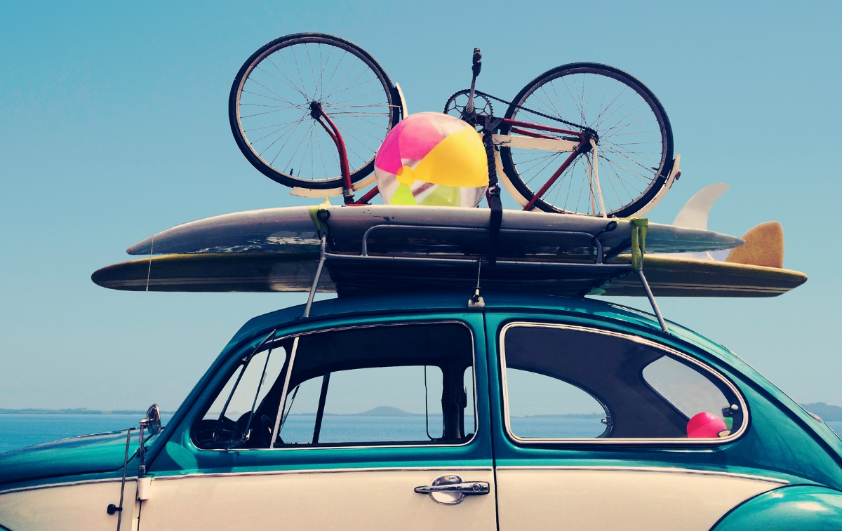 Vintage Summer holiday road trip vacation Travel concept with copy space