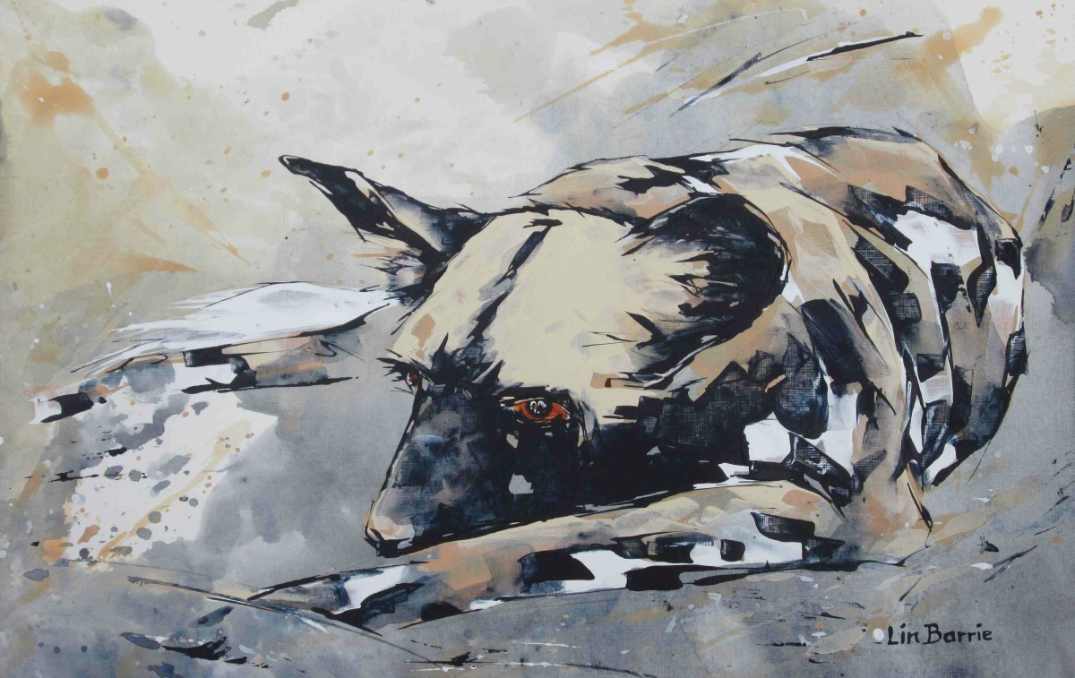 1-dozing-dogc2a0acrylic-on-canvas-paper-a3-c2a0295-cm-x-42-cm-lo-res