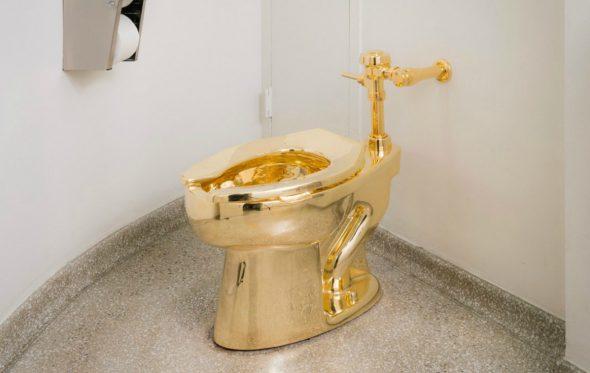 Κάτσε αν τολμάς! Τουαλέτα από χρυσό 18 καρατίων και αξίας $ 2.5 εκατ.