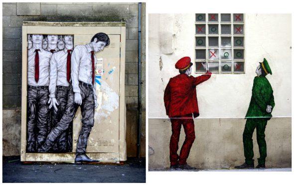 Οι φιγούρες του Levalet δίνουν χρώμα και ζωή στο Παρίσι