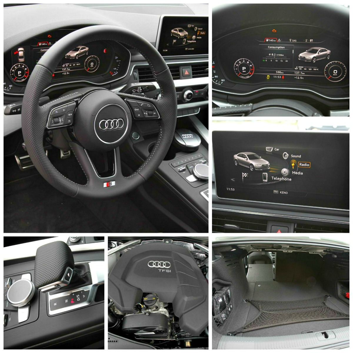 Audi A4 collage