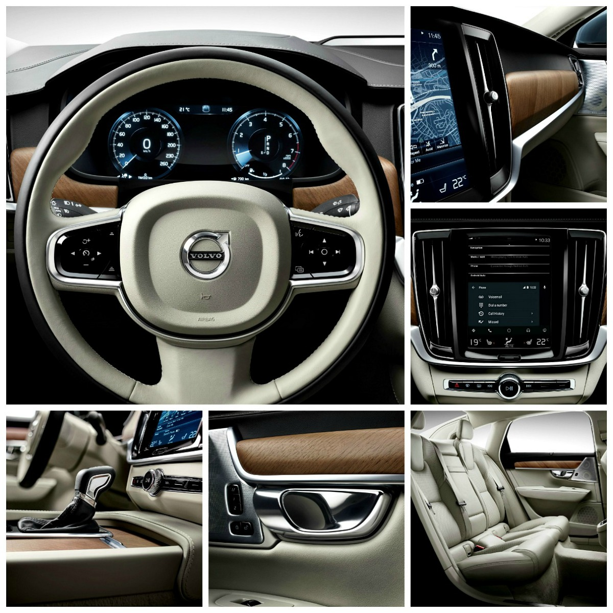 Volvo S90 collage