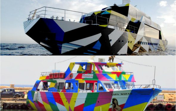 Το Fantasy Boat στην Αγία Νάπα «αντέγραψε» το mega yacht του Δάκη Ιωάννου που έχει σχεδιάσει ο Jeff Koons