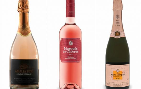 Ροζέ κρασιά σε ποτήρι, στο Winter Garden: μύρισε άνοιξη!