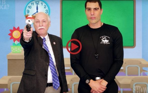 Και κάπως έτσι ο Sacha Baron Cohen ξεφτίλισε το λόμπι των όπλων στις ΗΠΑ