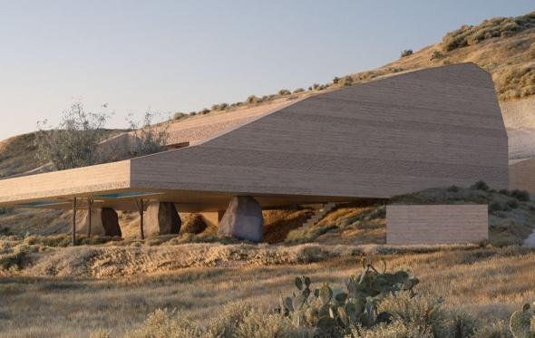«Δίδυμες» κατοικίες στη Σαντορίνη: όταν η γλυπτική συναντάει τη φύση