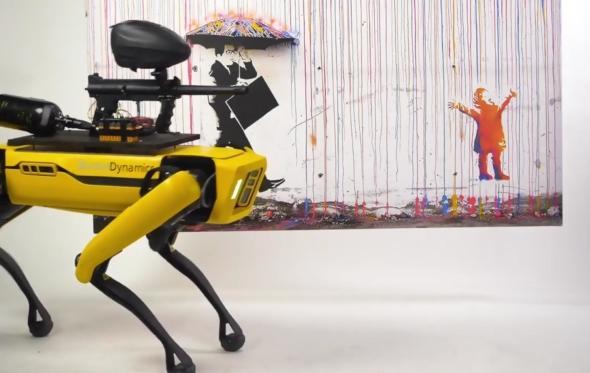 Η φάση είναι Τζόκερ: παίρνεις τον έλεγχο του ρομπότ και πυροβολείς τους πίνακες στην γκαλερί