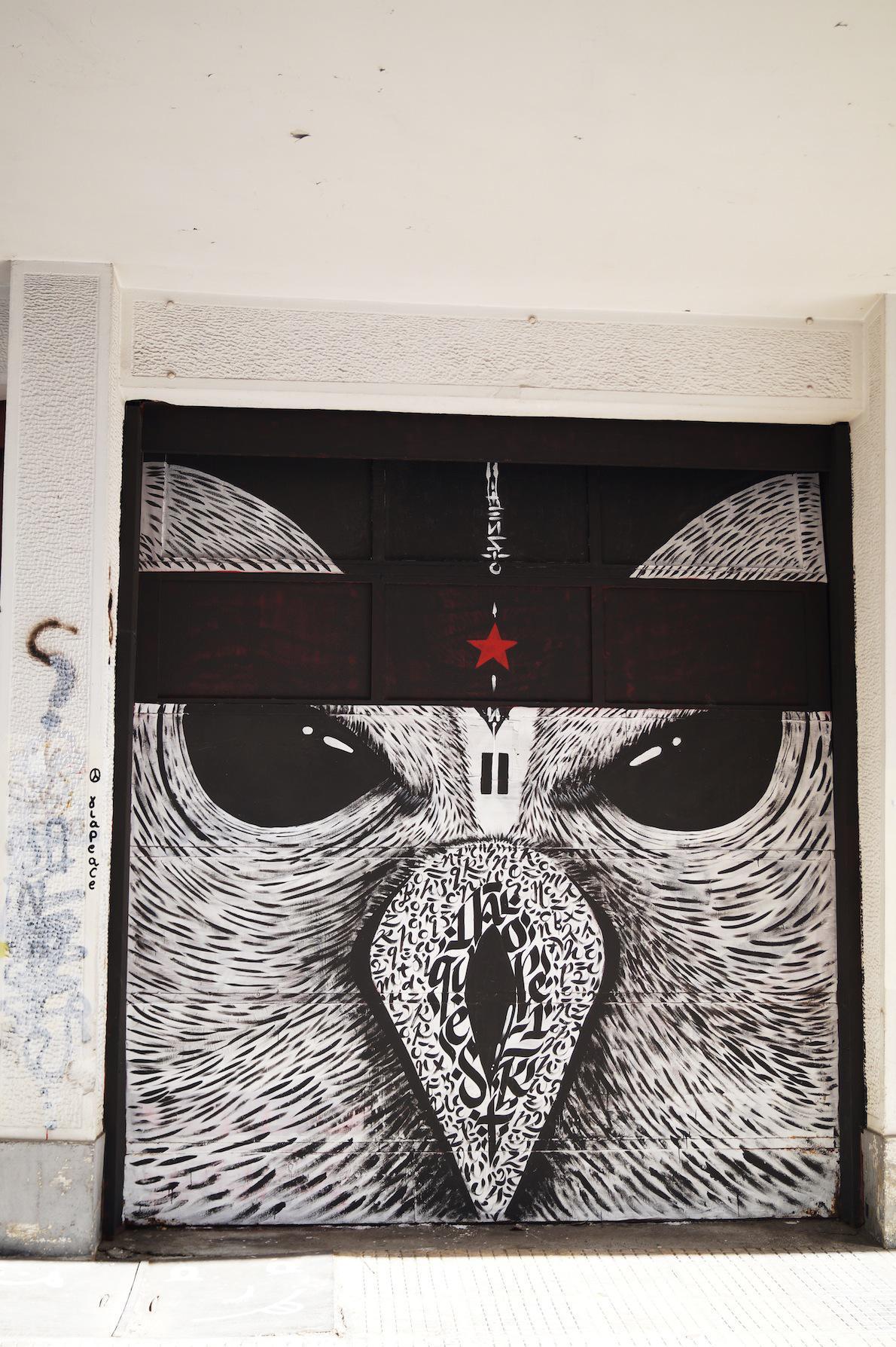 Ψυρρή. Artist: moka. greg papagrigoriou. Έργο του graphic designer greg pagrigoriou. Πλαστικο χρώμα