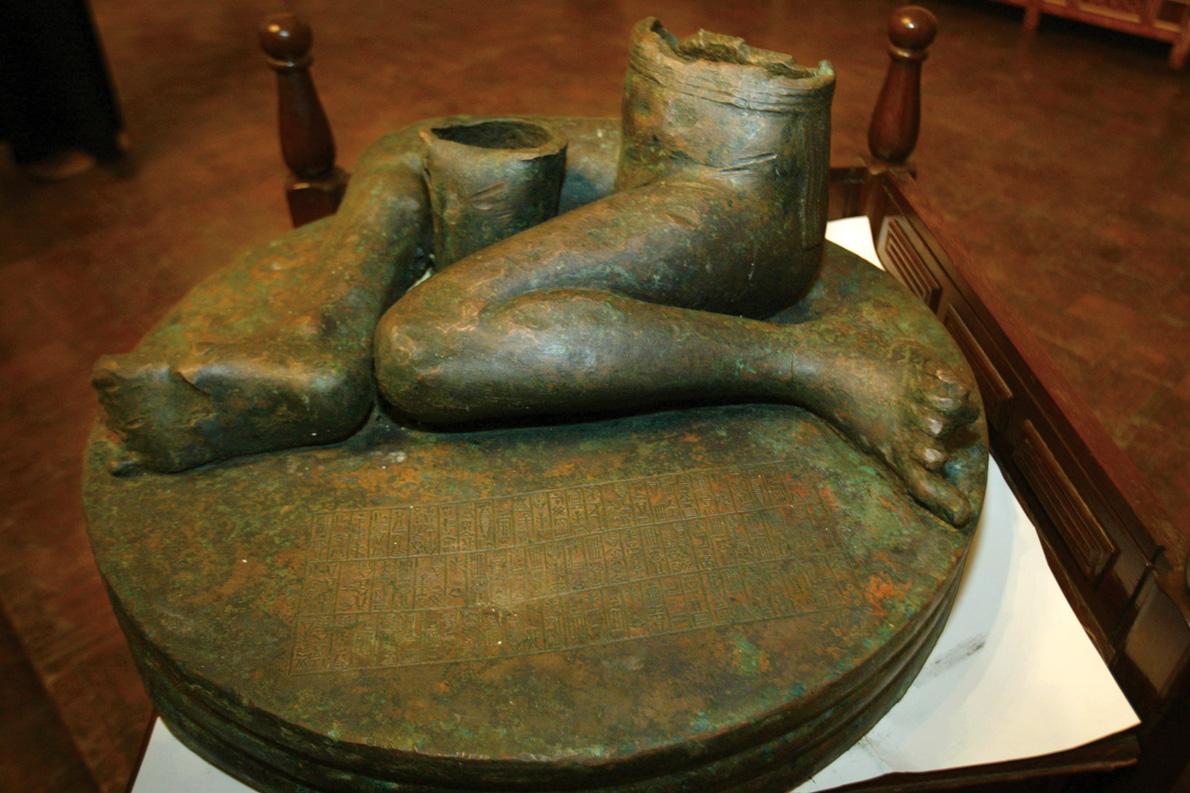 """The Bassetki Statue"" ξανά στη βάση του κι αυτό. Πίσω απο την ""ίσως πιο επιτυχημέμη επιχείρηση διάσωσης αρχαίων του αιώνα"" ήταν ""ένας Έλληνας με τα κότσια του Ιντιάνα Τζόουνς""."