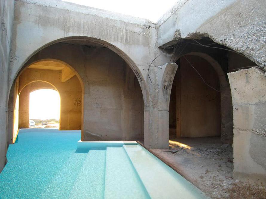 έργο 'The Naxos Ruin' του Studio Angelidakis.