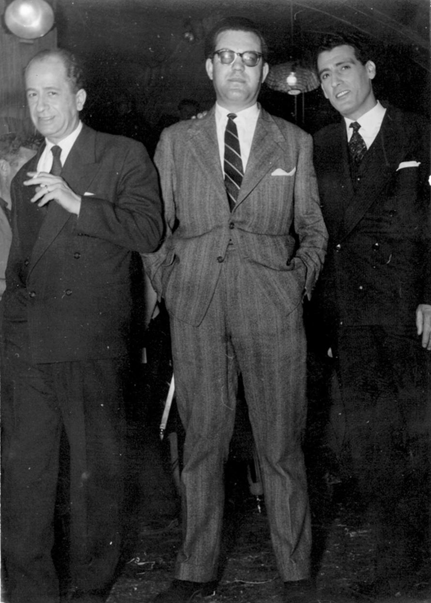 Ο Πέτρος Παπαευθυμίου με τον Μίμη Φωτόπουλο και τον Βύρωνα Πάλλη.