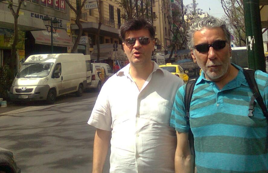Φοίβος Δεληβοριάς και Γιώργος Τσεμπερόπουλος. Φωτογραφία: Σωτήρης Κακίσης