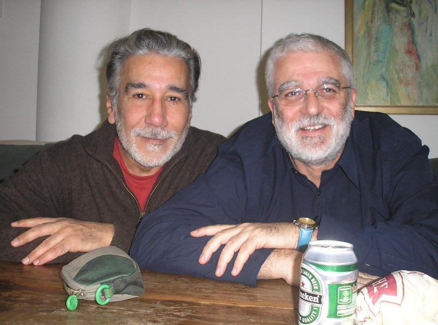 Γιώργος Τσεμπερόπουλος και Σωτήρης Κακίσης στη Φιλμική Εταιρεία. Φωτογραφία: Γιώργος Πανουσόπουλος