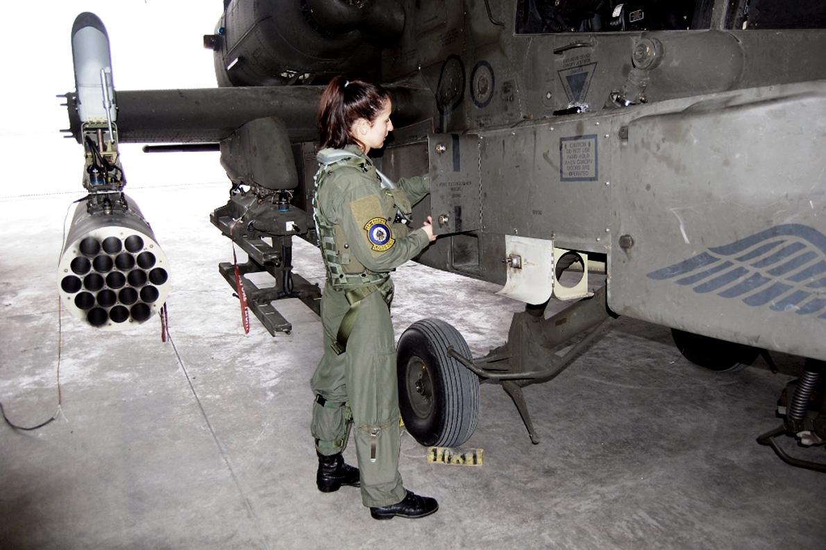 Το AH-64 Apache διαθέτει σύστημα αισθητήρων τοποθετημένο στη