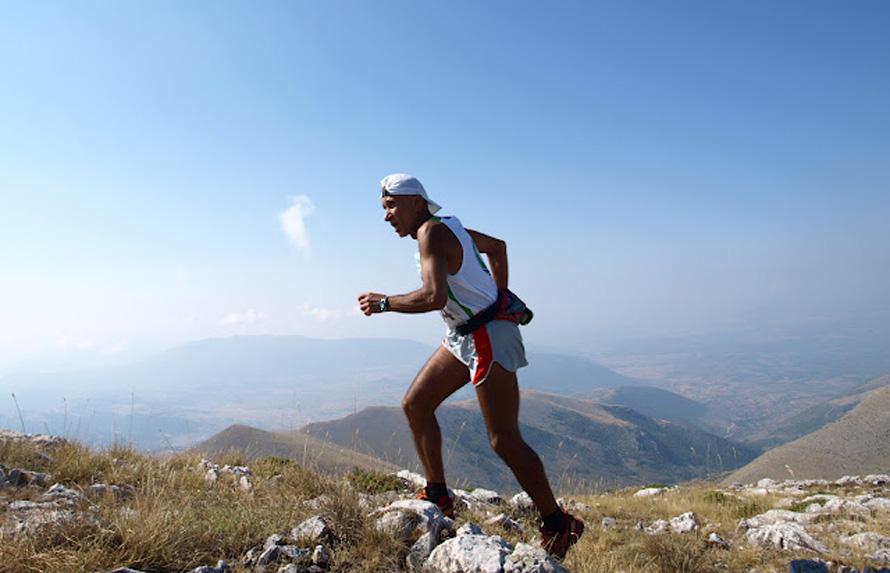 Στον ορεινό αγώνα Ναμάτων (Σινιάτσικο) τον Αύγουστο του 2012.