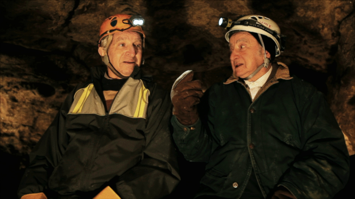 Sam Stermer and Saul Stermer inside Verteba Cave in NO PLACE ON EARTH