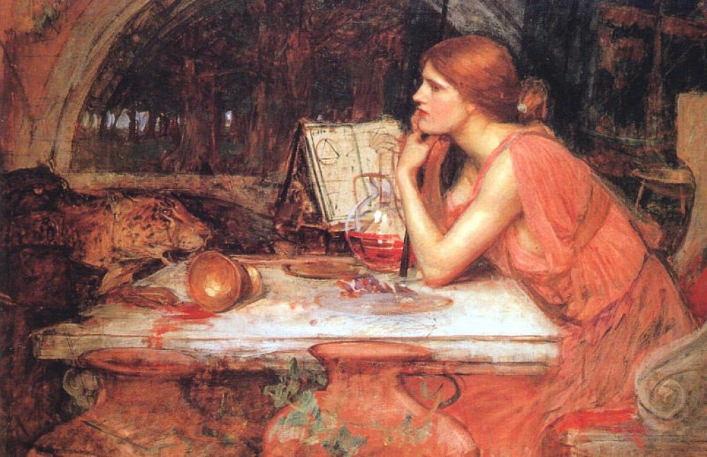 Η Κίρκη στον πίνακα του J.W.Waterhouse, «The Sorceress» (1913)