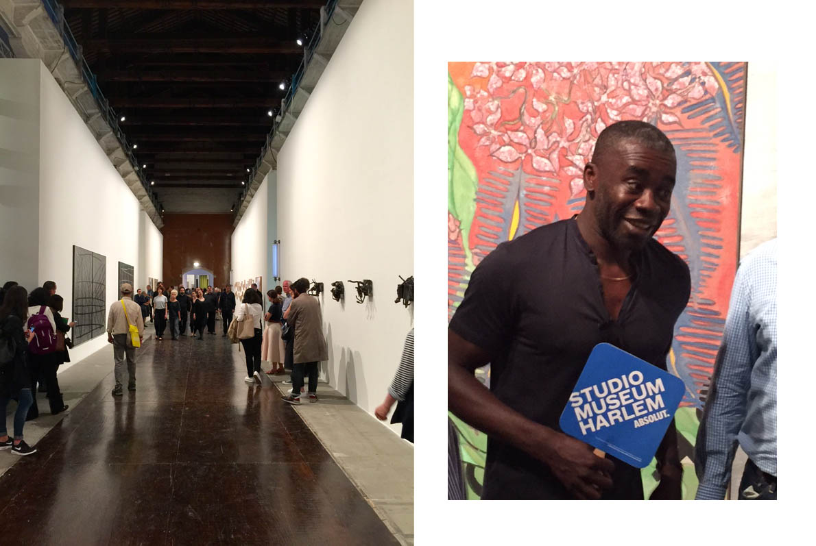 Arsenale, snapshot, credit M. Vernicos | Chris Offili in front of his work at Arsenale