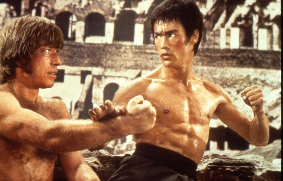 Bruce Lee & Chuck Norris