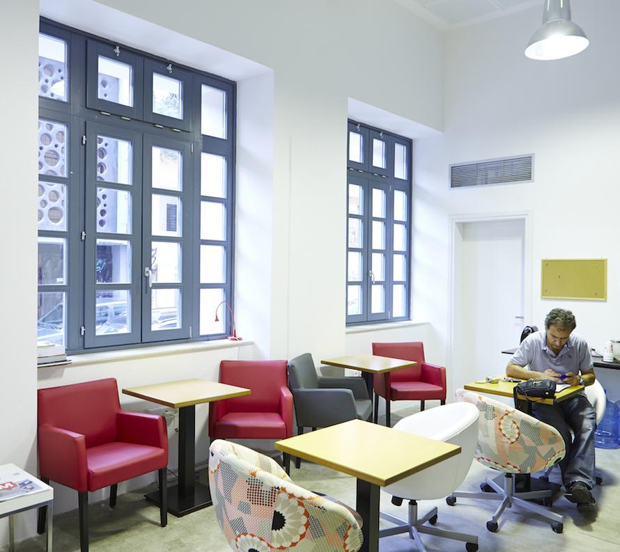 Η εγκατάσταση του Found.ation», εκτός από γραφεία, προσφέρει κι ένα πλήρες φάσμα υπηρεσιών υποστήριξης για την αναδυόμενη κοινότητα των ελληνικών επιχειρήσεων τεχνολογίας.
