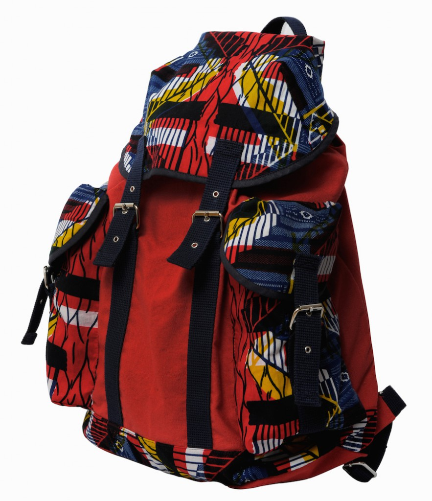 Canvas and African Oversized Backpack