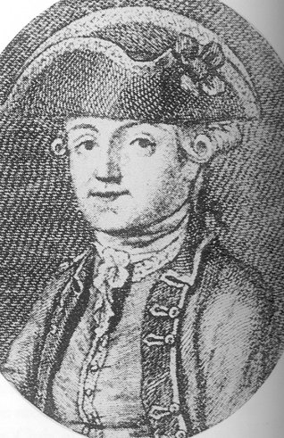 Engraving of Byron's father, Captain John 'Mad Jack' Byron, date unknown