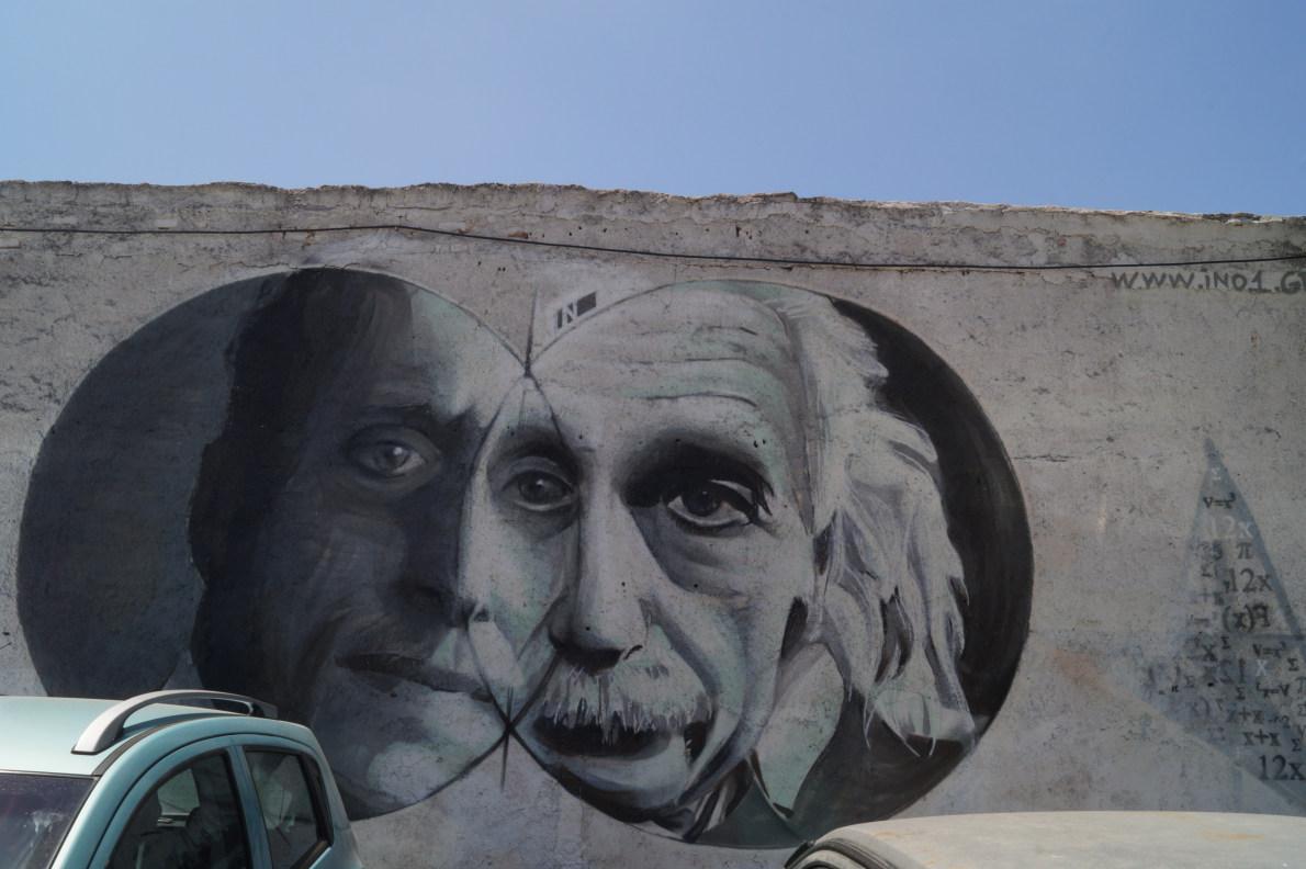 Γκάζι Αrtist: ino Αϊνστάιν - Καραθεοδωρής.  Η Sophisticated εκδοχή της Street Art. Spraypaint