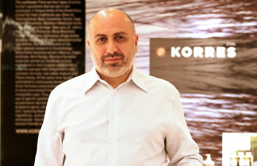 Ο ιδρυτής της KORRES, Γιώργος Κορρές.