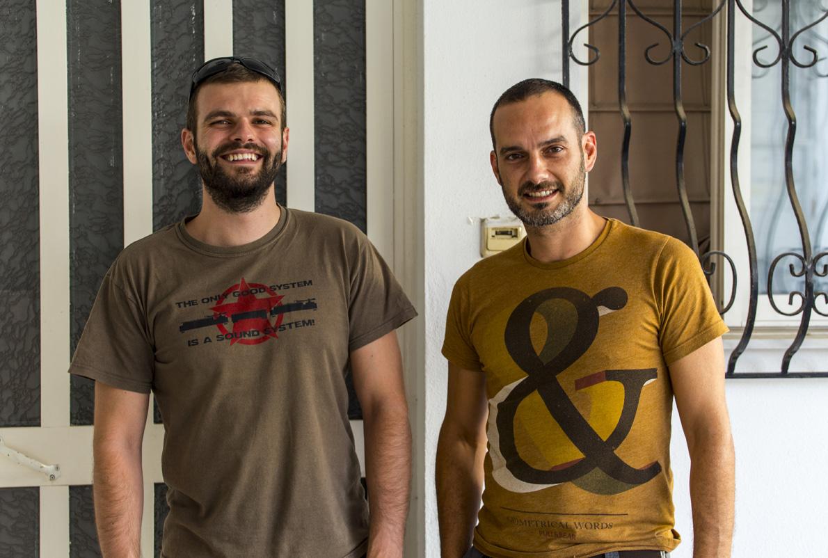 Οι Συνιδρυτές του Noowit Χρήστος Σπηλιόπουλος (αριστερά) και Νίκος Νανάς