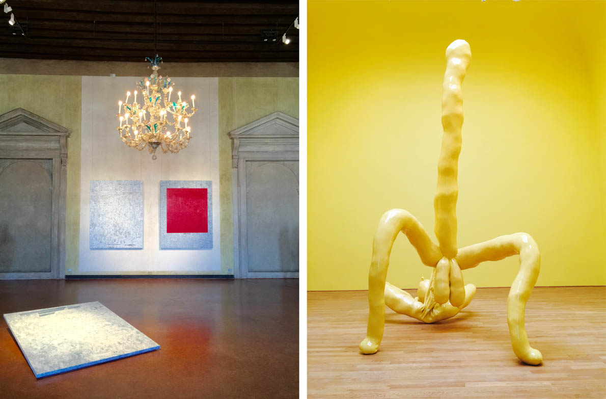 Jenny Holzer, _War Paintings_, Museo Correr. | Pavilion of Great Britain, Sarah Lucas, credit M. Vernicos
