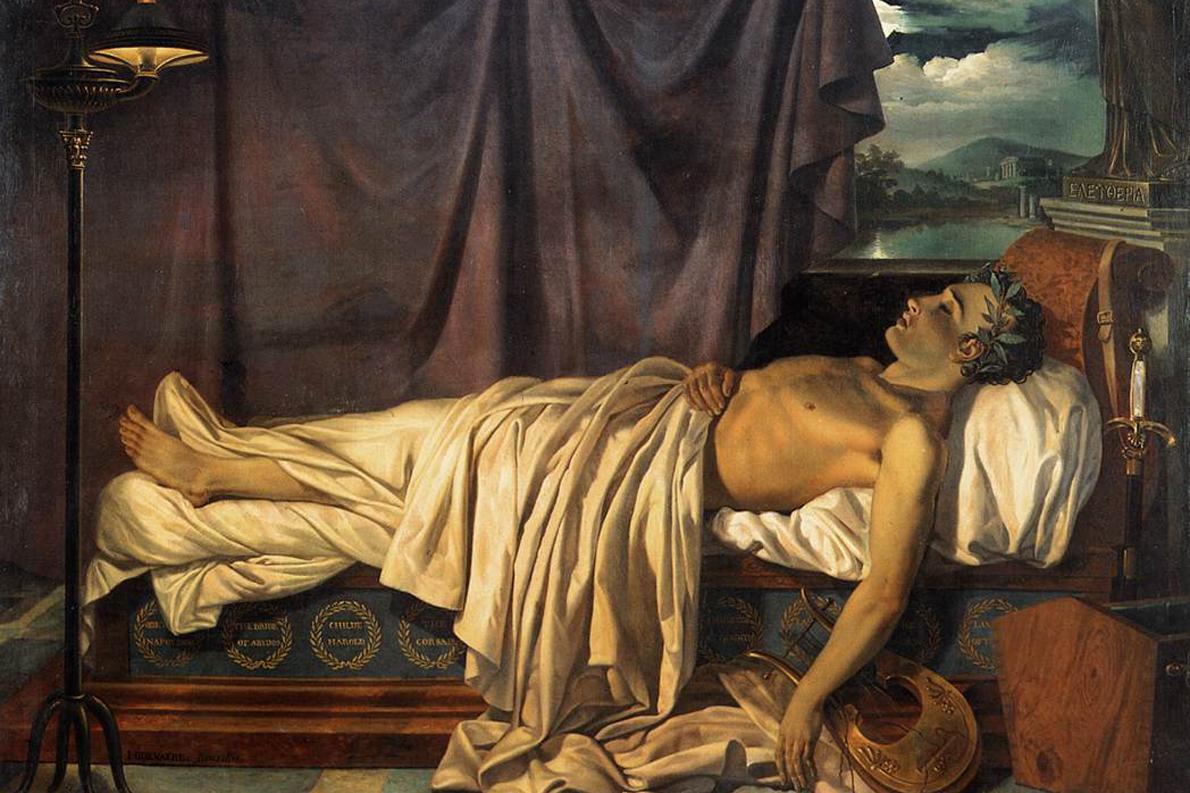 «Ο λόρδος Βύρων στο νεκροκρέβατό του», έργο του Joseph-Denis Odevaere, 1826