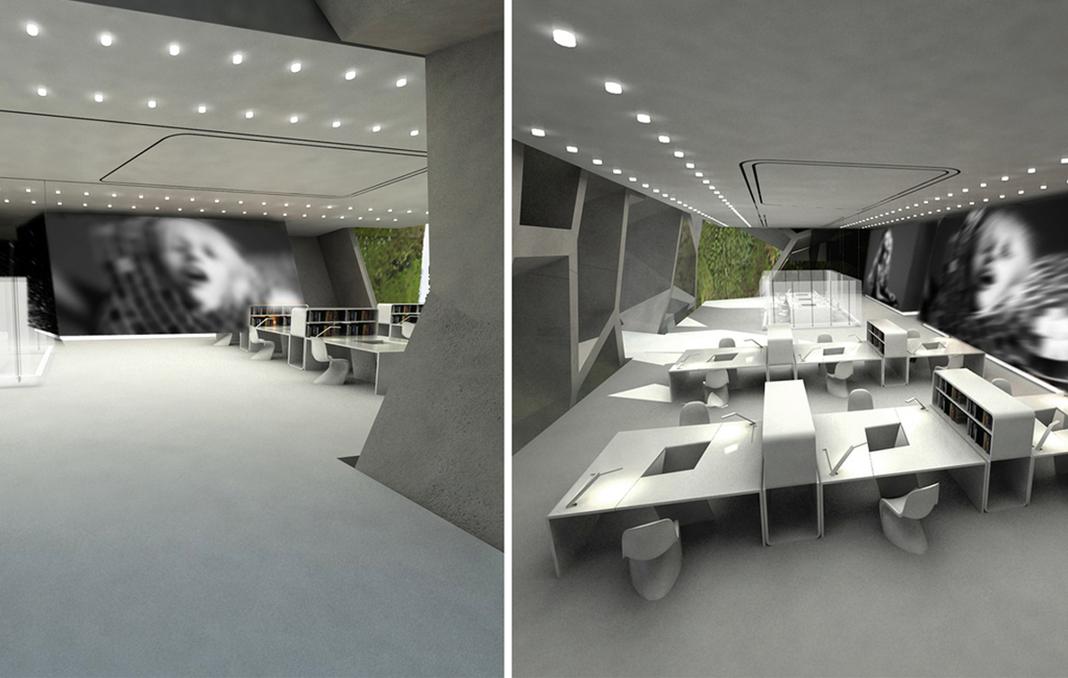 Πρόταση κατασκευής πολύχωρου στο εξωτερικό, που εξασφαλίζει τη στατικότητά του  μέσω ενός πρωτοποριακά σχεδιασμένου κελύφους.