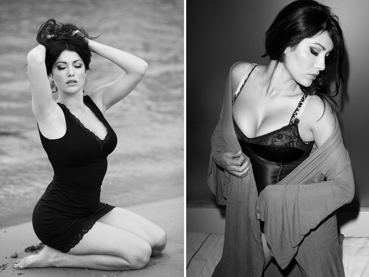 Αριστερά: Νυχτικό Intimissimi . Δεξιά: Κιμονό Ioanna Kourbela , body Βεστιάριο Costumier