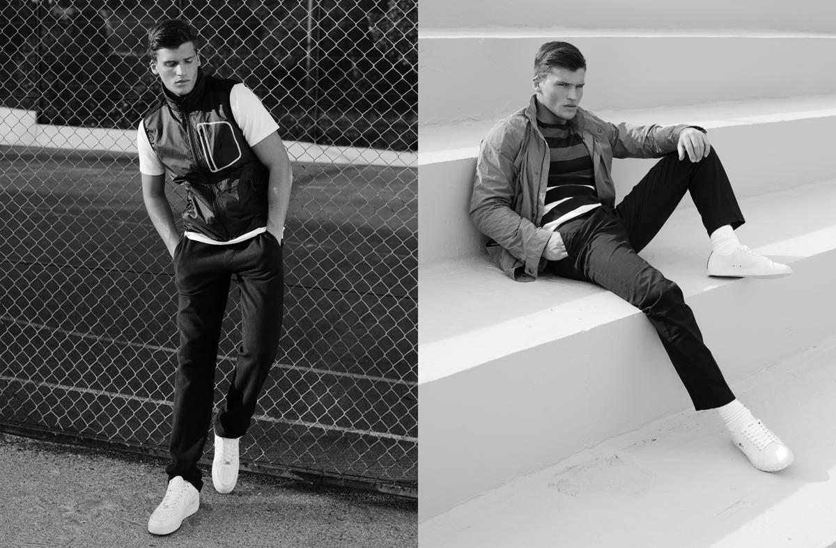 Αριστερά: αμάνικο τζάκετ Nautica, T-shirt Nautica, φόρμα Trussardi, παπούτσια nike. Δεξιά: Τζάκετ Barbour, πλεκτό πουλόβερ και παντελόνι Nautica, παπούτσια Lacoste.