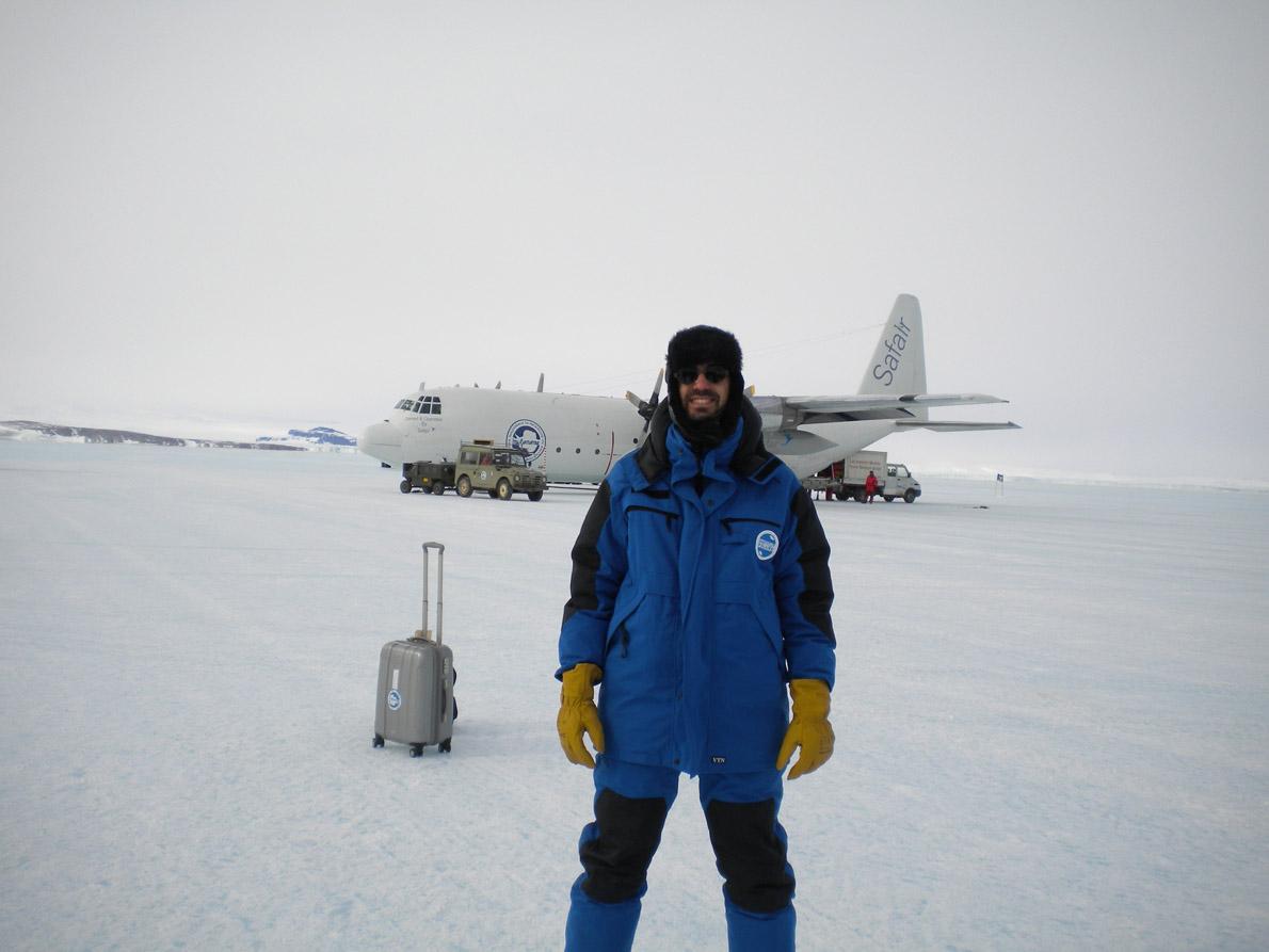 Landing on the frozen sea