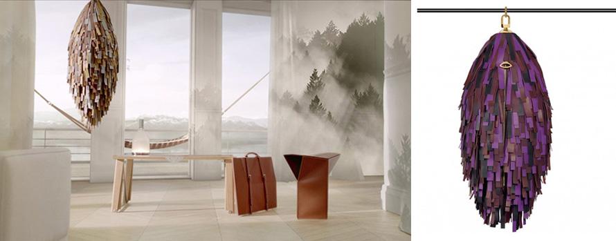 Η κατ' οίκον προσέγγιση της νομαδικής ζωής, όπως εκφράστηκε στη σειρά Objects Nomads το 2013. Σε κάθε περίπτωση, οι δημιουργίες αυτές ταιριάζουν γάντι με το ταξιδιωτικό πνεύμα που διακρίνει τον οίκο Louis Vuitton.