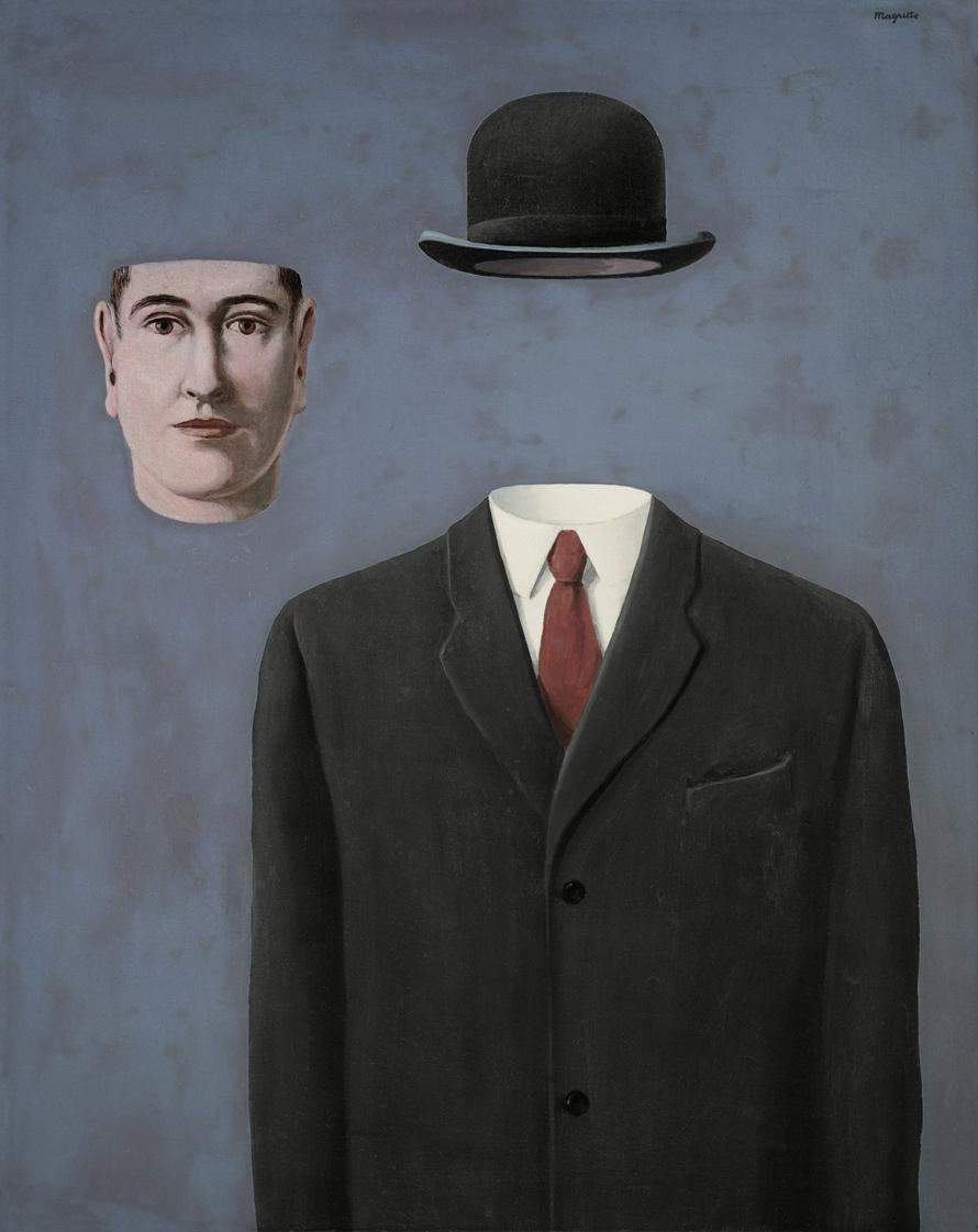 Rene Magritte, Pilgrim, 1966, oil on canvas, 31.89 in x 25.59 in, 81 x 65 cm. © 2014 C. Herscovici / Artists Rights Society (ARS), New York Andy