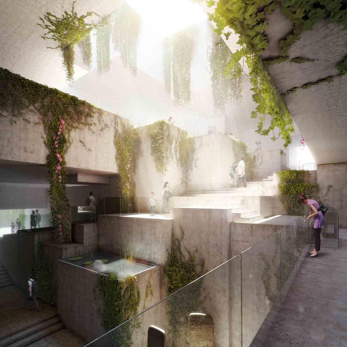 """""""Museo Maya de America"""". Αρχιτέκτονες: Harry Gugger Studio και Under-Over."""