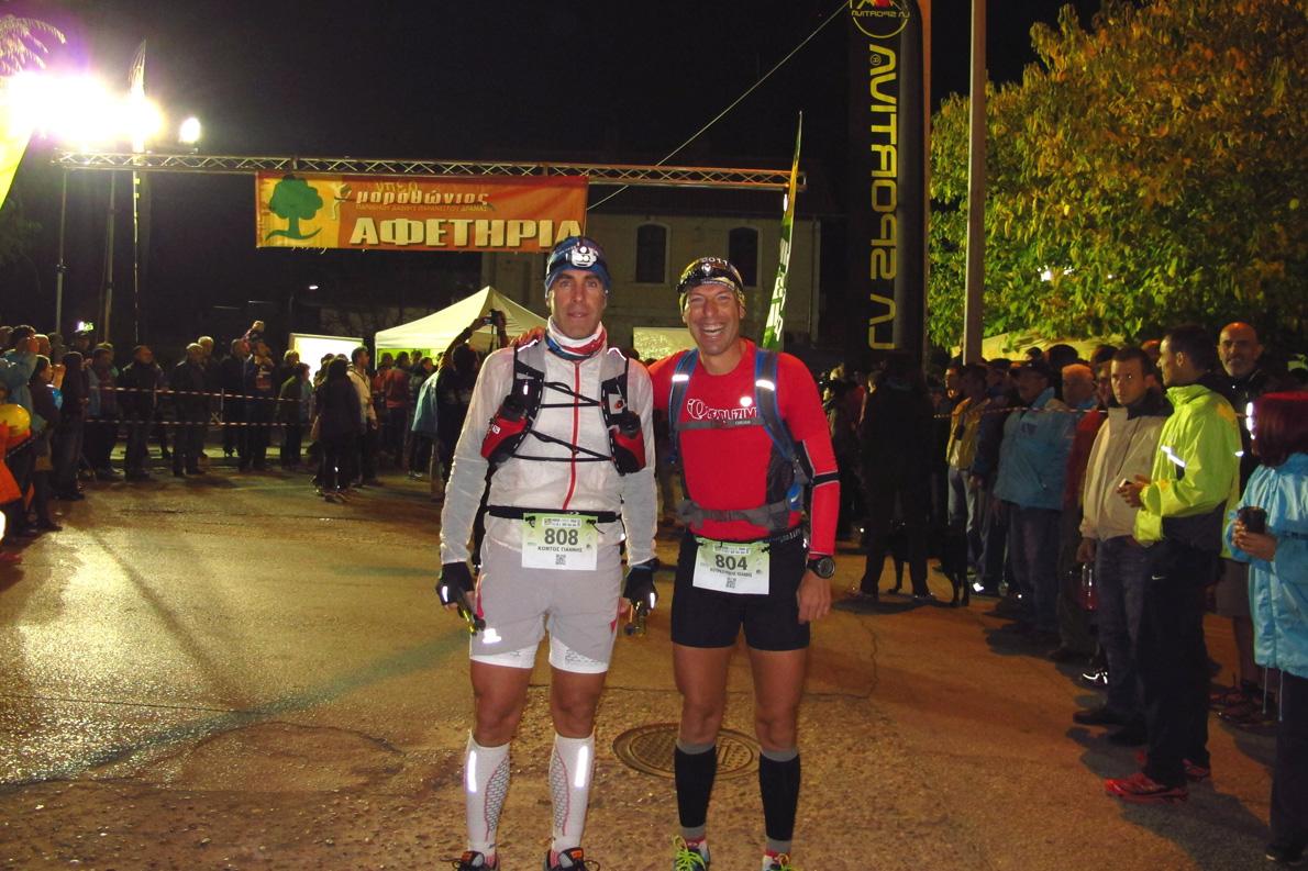 Στον ultra μαραθώνιο 160 χλμ. στο Παρανέστι το 2013.