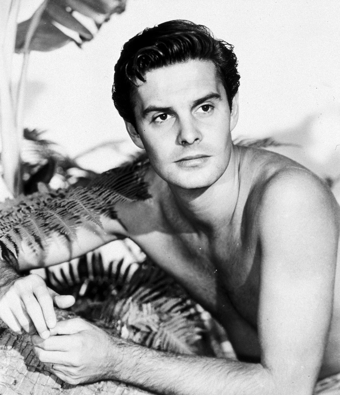 Portrait of Louis Jourdan for Bird of Paradise directed by Delmer Daves 1951