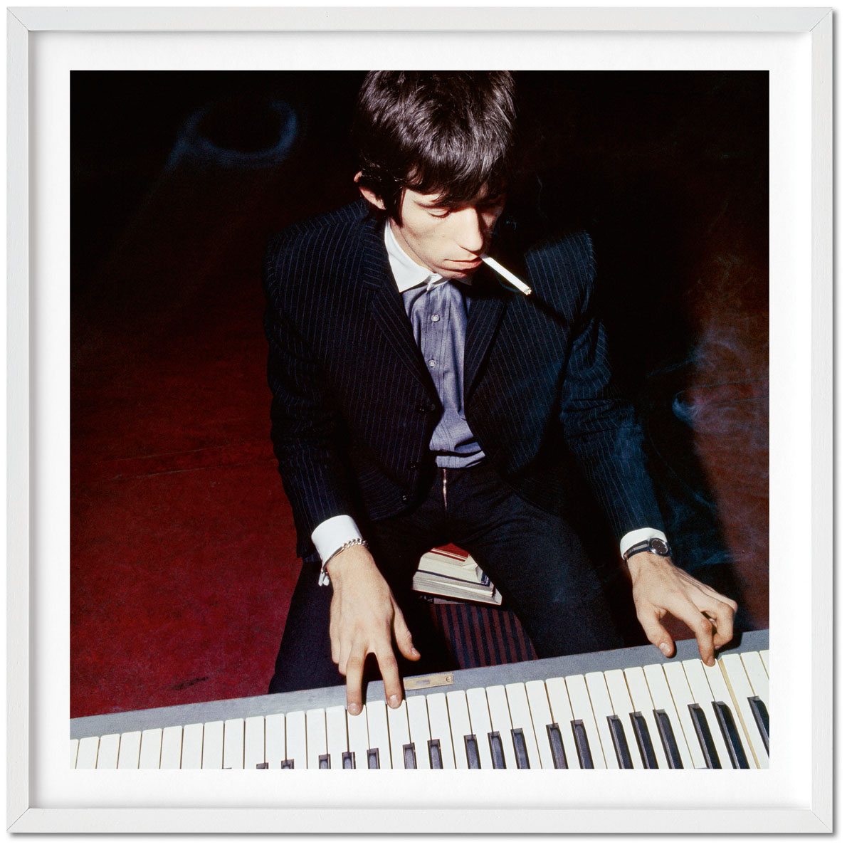 Bent Rej Keith playing the piano (1965), signed by photographer Bent Rej, Archival pigment print on Hahnemühle Baryta paper