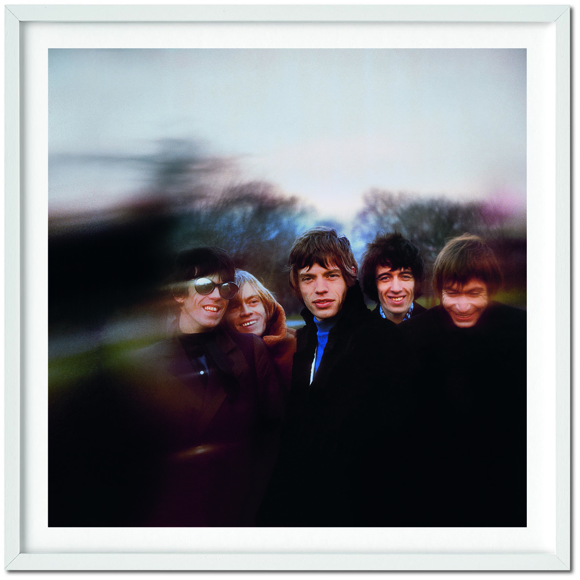 Gered Mankowitz Smiling Buttons (1966), signed by photographer Gered Mankowitz C-print on archival paper 50 x 50 cm / 20 x 20 in. (paper size) Frame not included