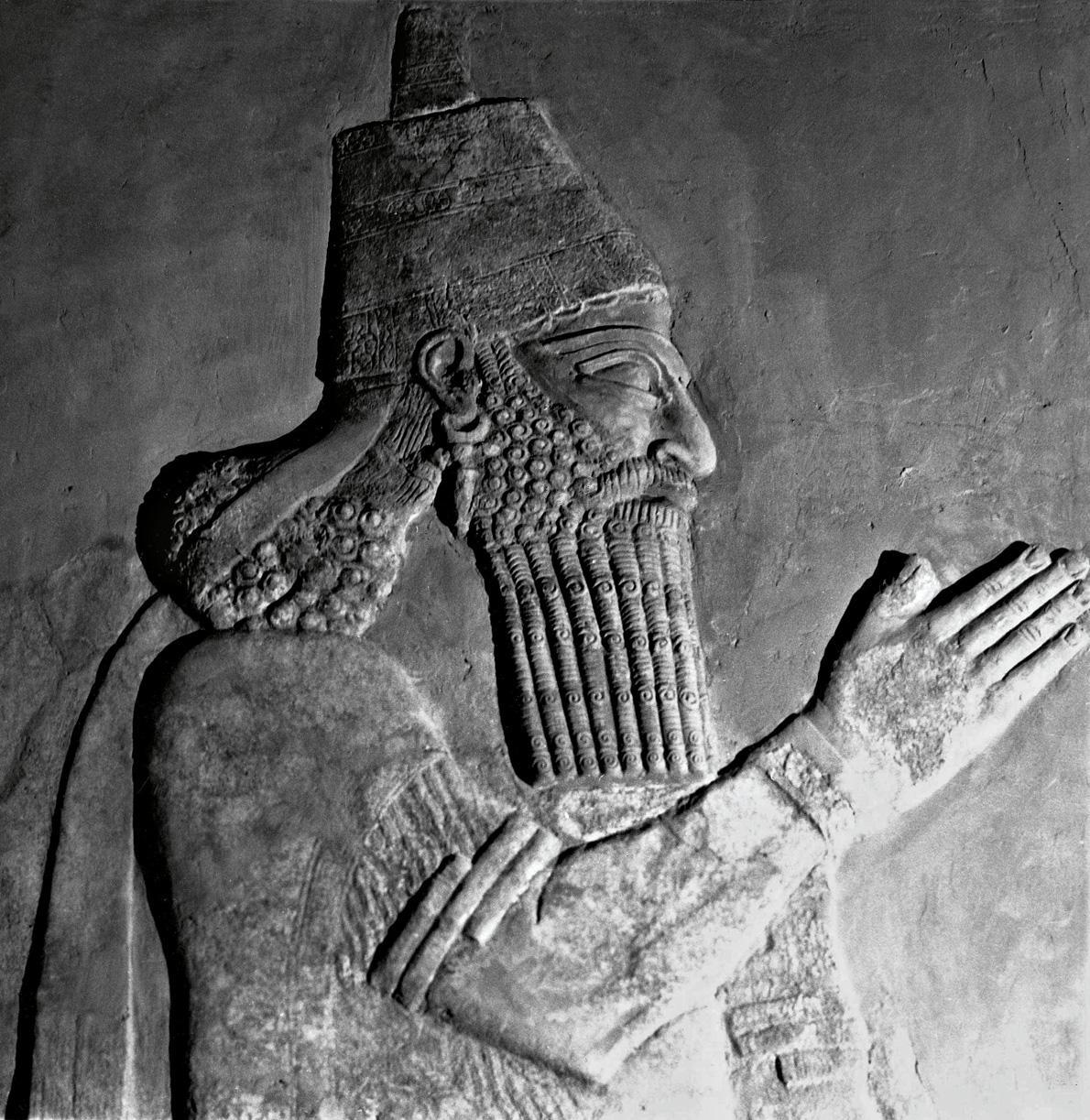 Musee de Bagdad - Bas relief de Khorsabad, Roi Sargon II 721 a 705 av JC