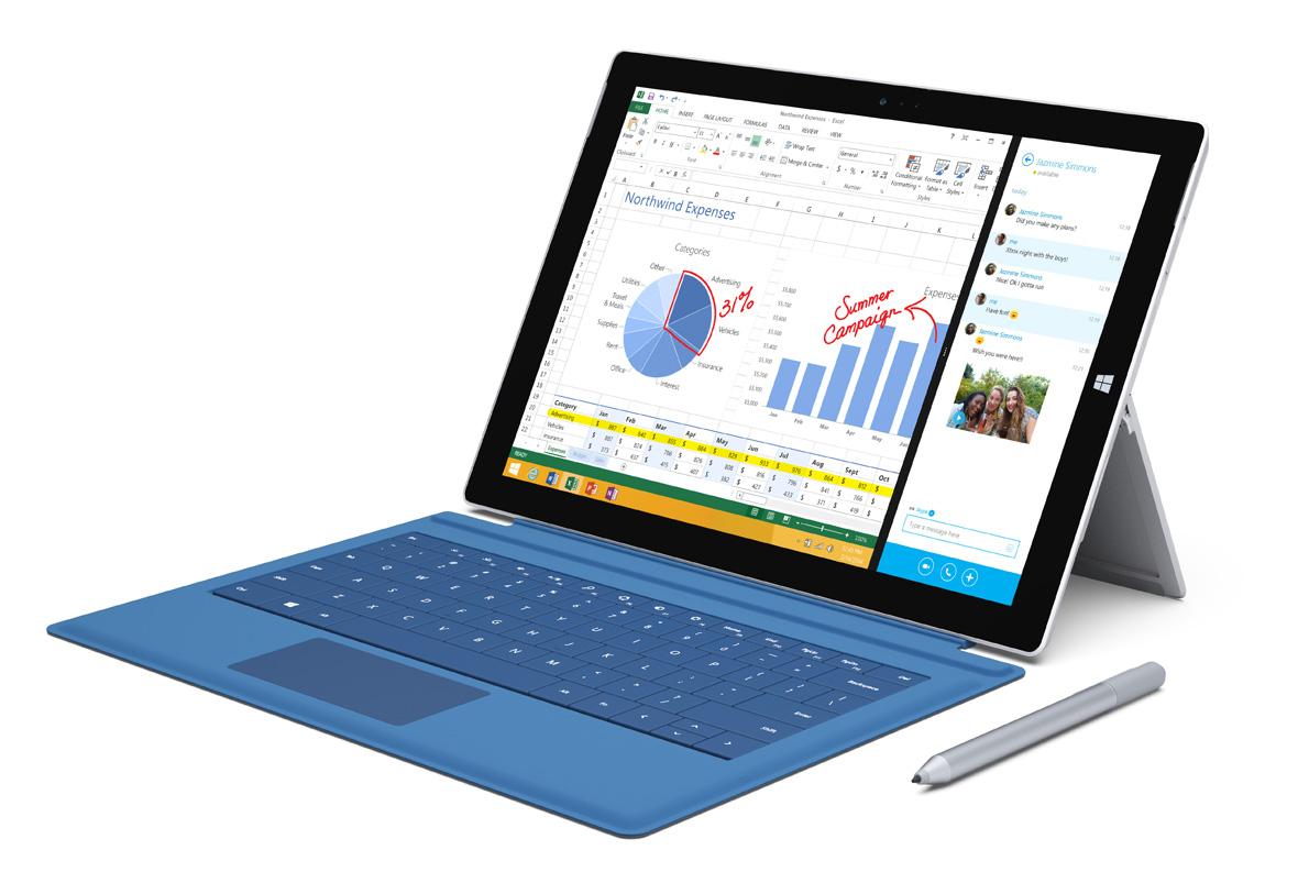 Σε συνδυασμό με το stylus, το Surface Pro 3 απελευθερώνει τις δυνατότητες συνεργασίας και παρουσίασης. Και είναι και cool.