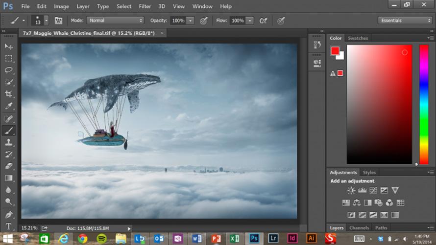 Με αφορμή το Surface Pro 3, η Adobe παρουσίασε μια νέα, touch-friendly, έκδοση του Photoshop για Windows.