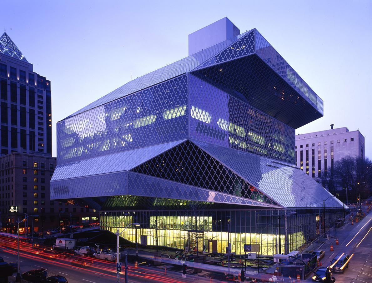 Κεντρική Βιβλιοθήκη του Seattle, αρχιτέκτων: Rem Koolhaas