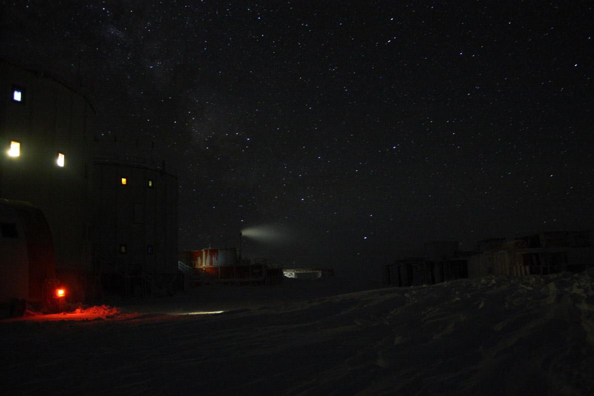 The base at night