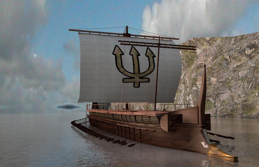 «Η νέα μας εφαρμογή ''Battle of Salamis'' παρουσιάζει την αληθινή ιστορία της σημαντικότερης ναυμαχίας στην αρχαιότητα. Περιλαμβάνει την εξιστόρηση της αναμέτρησης με κείμενα και κινούμενα γραφικά, όσα προηγήθηκαν και ακολούθησαν, παρουσίαση τρισδιάστατου μοντέλου της Τριήρους, αλλά και βιογραφίες των πρωταγωνιστών, συνοδευόμενες από πρωτότυπες εικονογραφήσεις του διάσημου εικαστικού, Τάκη Λουκάτου».
