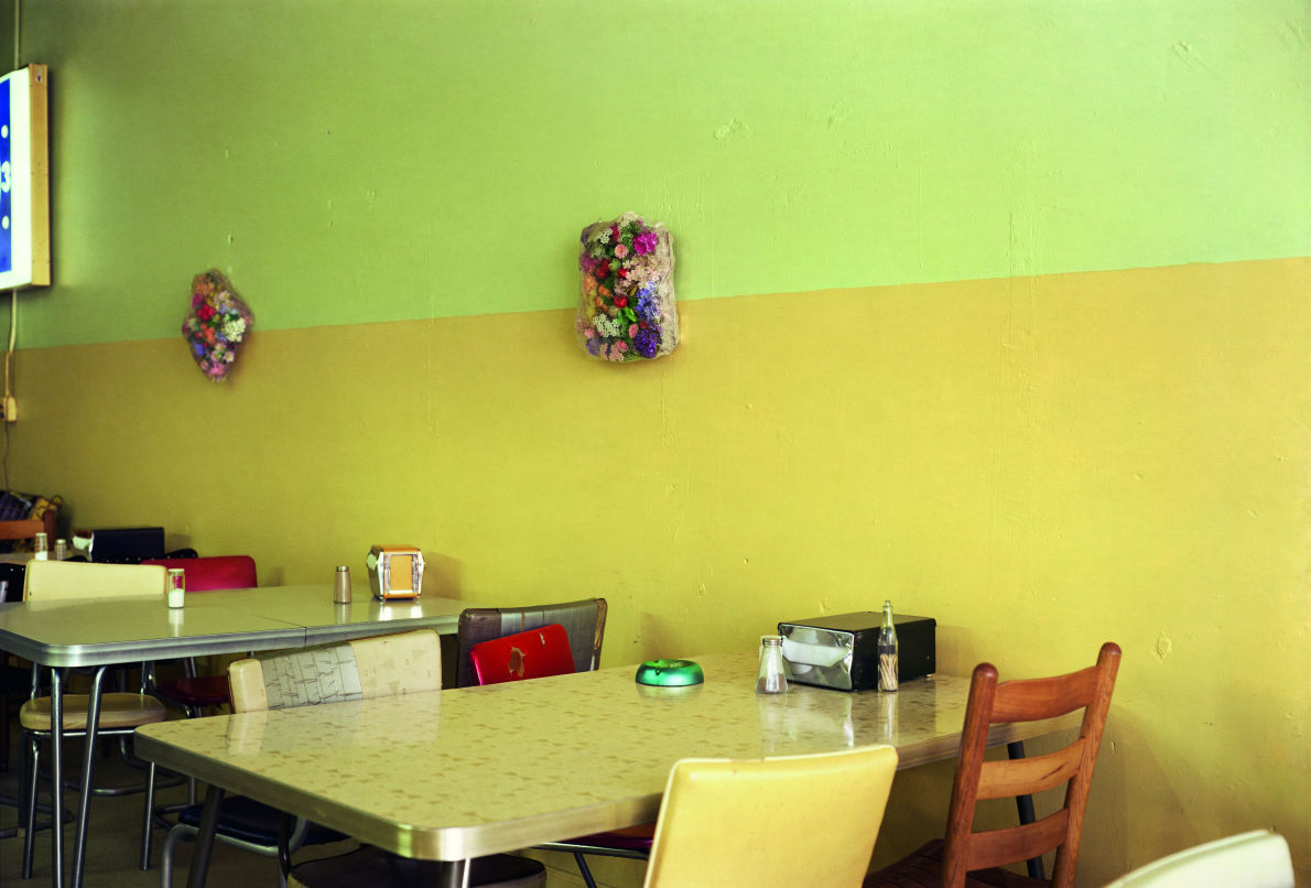 Untitled. 1976 fr. Election Eve - yellow cafe © Eggleston Artistic Trust. Courtesy of Gagosian Gallery
